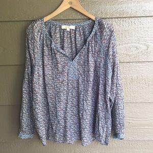 LOFT girlie popover spring floral printed blouse